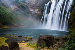 Waterfall scenery Stock Images