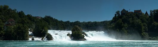 Waterfall of Schaffhausen Stock Images