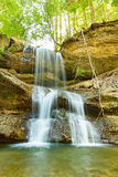 Waterfall in scheidegg Stock Photography