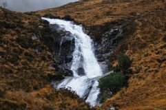 Waterfall in the Scottish Highlands. Royalty Free Stock Photo