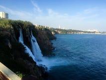 Waterfall sea royalty free stock photography