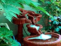 Waterfall. Selfmade waterfall decoration Stock Photo
