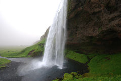 Waterfall Seljalandsfoss in Iceland Royalty Free Stock Photography