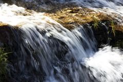 Waterfall, Serra de Canastra, Brazil. Manual updated royalty free stock photography
