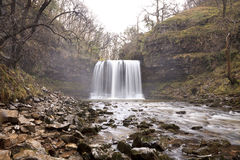 The Waterfall Sgwd yr Eira in Wales. Royalty Free Stock Images
