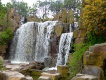 A waterfall at Shanghai flower port Royalty Free Stock Photography