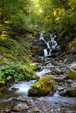 Waterfall Shypit in Pylypet, Zakarpatska oblast, Ukraine. Stock Images