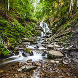 Waterfall Shypit in the Ukraine Royalty Free Stock Photography