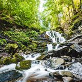 Waterfall Shypit in the Ukraine Stock Photos