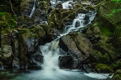 A Waterfall In The Siamese Ponds Wilderness Area In The Adirondack Mountains Of New York State royalty free stock photo