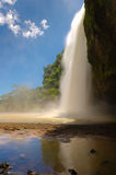 Waterfall side view Royalty Free Stock Image