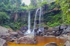 Waterfall on the Siem Reap River. Stock Images