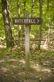 Waterfall Sign Royalty Free Stock Image