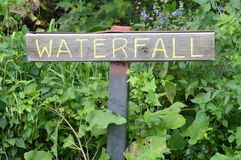 Waterfall Sign Stock Photo
