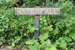 Waterfall Sign Royalty Free Stock Photos