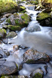 Waterfall. A silky smooth stream flowing over rocks to form a small waterfall Stock Photography