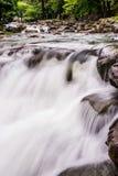 Waterfall. Silky stream nature at eyelevel Stock Photography