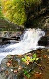 Waterfall - Skelton Beck waterfall - Autumn Stock Image