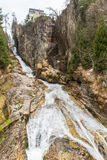 Waterfall in Ski resort town Bad Gastein, Austria Royalty Free Stock Photography