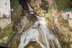 Waterfall in Ski resort town Bad Gastein, Austria Stock Image