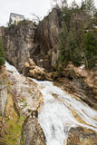 Waterfall in Ski resort town Bad Gastein, Austria Royalty Free Stock Image