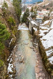 Waterfall in Ski resort town Bad Gastein, Austria Stock Photography