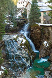 Waterfall in Ski resort town Bad Gastein, Austria Royalty Free Stock Photo