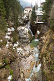 Waterfall in Ski resort town Bad Gastein, Austria Stock Photo
