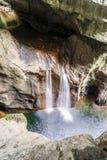 Waterfall in Skocjan Caves Park, Natural Heritage Site in Sloven Stock Photo