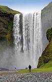 Waterfall Skogafoss. Iceland Royalty Free Stock Photography