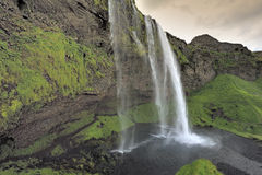 Waterfall Skogafoss, Iceland. View of waterfall Skogafoss, Iceland Royalty Free Stock Photography