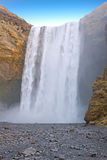 Waterfall Skogafoss in Iceland Royalty Free Stock Image
