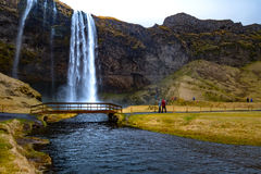 Waterfall `Skogafoss` in South Iceland
