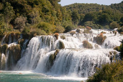 Waterfall Skradinski buk in Croatian National Park Royalty Free Stock Image