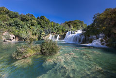 Waterfall (Skradinski buk) in Krk National Park, Croatia Stock Photo