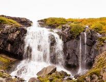 Waterfall in Skutulsfjordur Stock Image