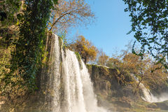 Waterfall and sky Royalty Free Stock Images
