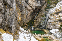 Waterfall Slap Savica, Slovenia Royalty Free Stock Photos