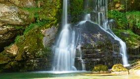 Waterfall slap virje in slovenia stock photo