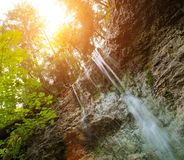 Waterfall in Slovak Paradise royalty free stock photography