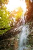 Waterfall in Slovak Paradise Royalty Free Stock Photos
