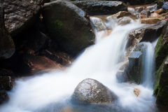 Waterfall. Slow shutter waterfall in Thailand stock photos