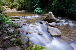 Waterfall. Slow shutter waterfall in Thailand royalty free stock photography