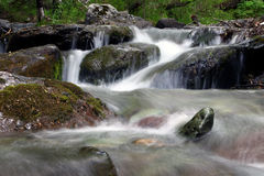 Waterfall. Small falls on a mountain stream stock images