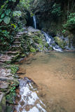 Waterfall and small lake in the rain forest of Khao Sok sanctuar Stock Photography