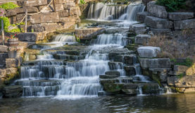 Waterfall. Small man-made waterfall in Frankenmuth Michigan. Located on the Cass River Royalty Free Stock Images
