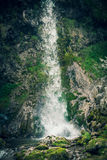 Waterfall  on small mountain river Stock Image