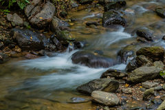 Waterfall in small mountain stream. Stock Photography