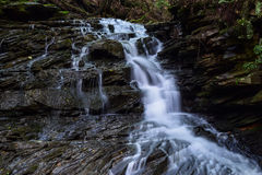 Waterfall on a small Native Brook Trout Stream. Royalty Free Stock Image