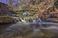 Waterfall in small river Stock Photo